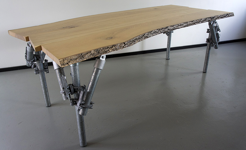Tables With Legs Of Scaffolding Pipes Jan Jongejans